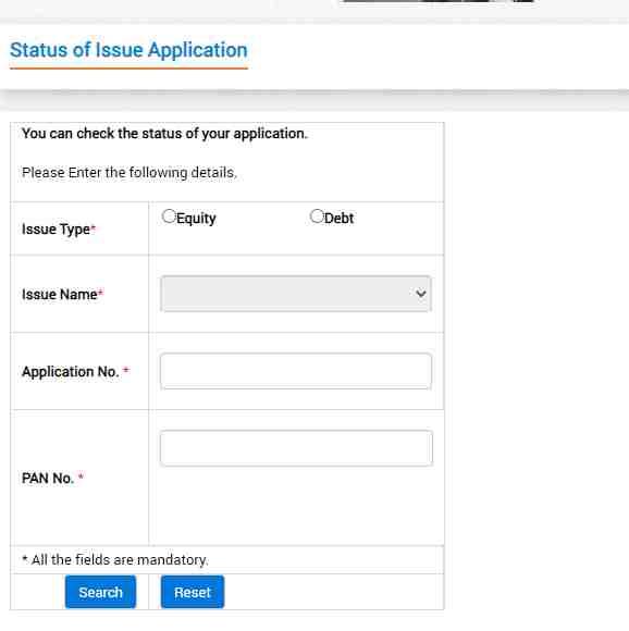railtel ipo allotment status check online