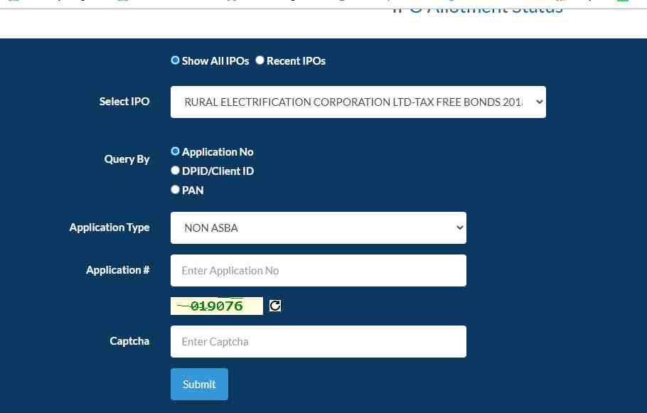 railtel corporation ipo allotment status