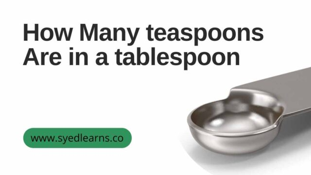 How Many teaspoons Are in a tablespoon